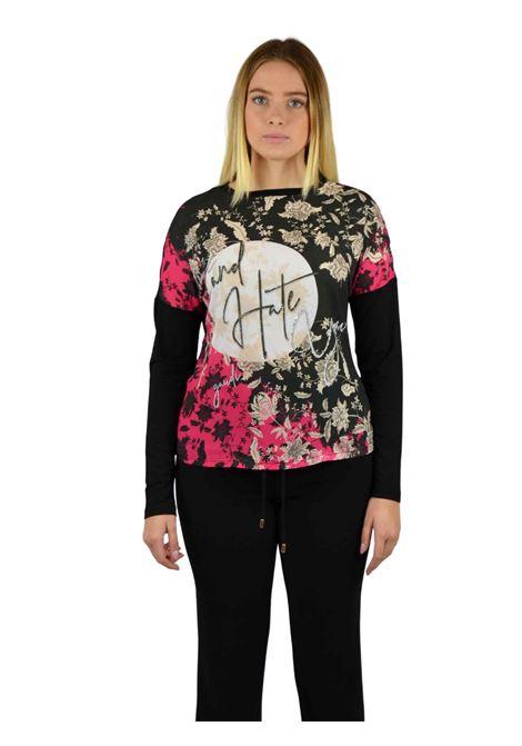 Maglia girocollo effetto casacca GAUDI | T-shirt | BD640552001