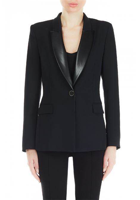 Single-breasted jacket with faux leather collar LIUJO COLLECTION |  | CF0041T240422222