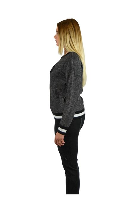 Jacquard Sweater in wool  with logo LIUJO SPORT |  | TF0075MA49104858