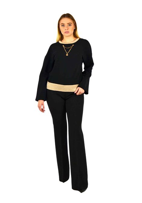 Fleece sweater, neckline and long sleeves LIUJO SPORT |  | TF0085F080222222