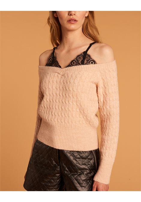 Maglia in lana scollo a barca DENNY ROSE | Maglia | DD500032721