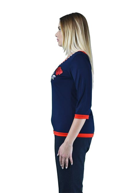 Jersey knit with three- quarter sleeves CAPONE |  | 5009-19BLUE