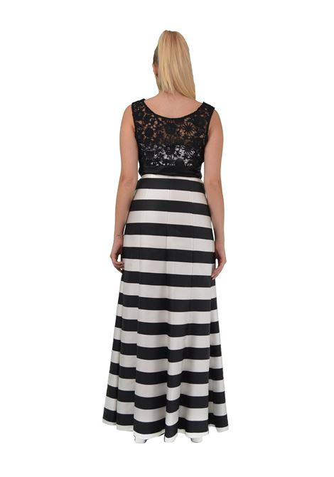 Long dress with lace bodice CAPONE |  | D20107NERO