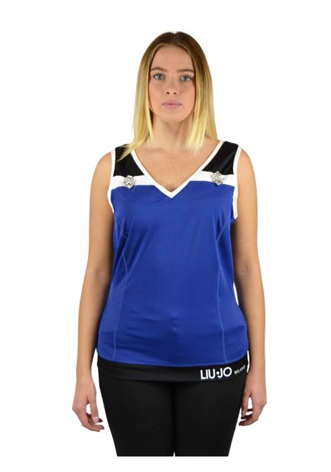 Lycra armhole and V-neck sweater LIUJO SPORT |  | T19051J7912B3295