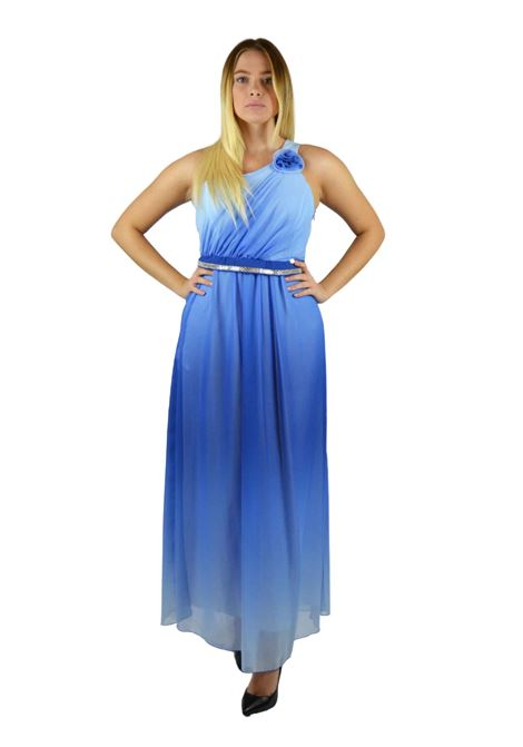 Abito lungo Long one-shoulder dress RINASCIMENTO | Abiti | PP71RR01AABLUE