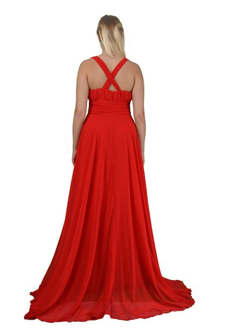 Long dress in empire style chiffon  SAVUKA |  | 30777ROSSO