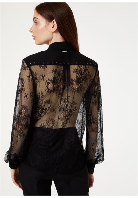 Shirt made of fine lace with cady inserts LIUJO GOLD |  | IA0144J587522222