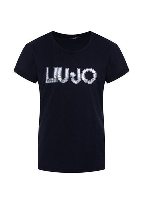 t-shirt donna con logo liujo LIUJO SPORT | Maglie | TA0108J5003U9871