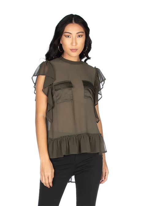 Cap sleeve blouse in georgettes RELISH |  | RDP20030090011199