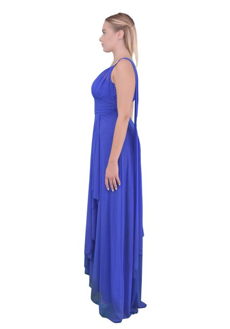 Long dress one shoulder  SAVUKA |  | 31617COBALTO