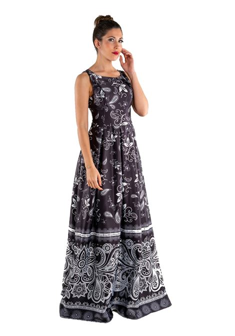 Long dress in cotton sateen  SAVUKA |  | 31682-ENERO