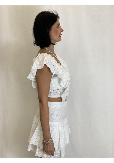 blusa in pizzo sangallo DENNY ROSE | Camicia | DD400072100