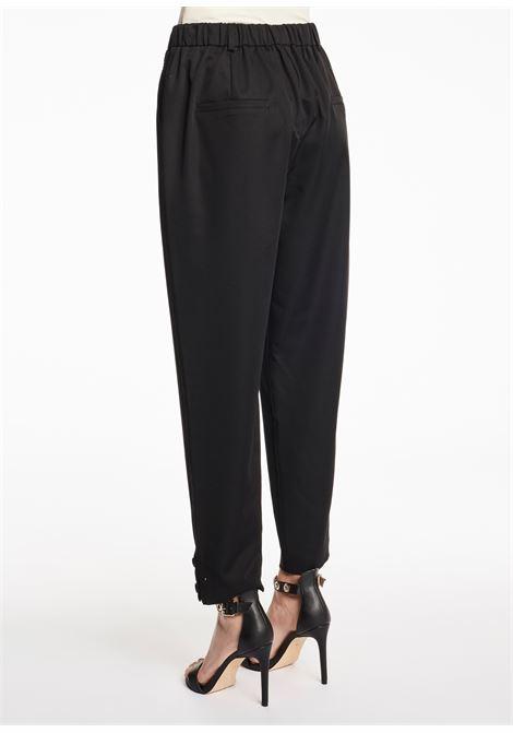 Pantalone con elastico e risvolto giù GAUDI FASHION | Pantaloni | FD250052001