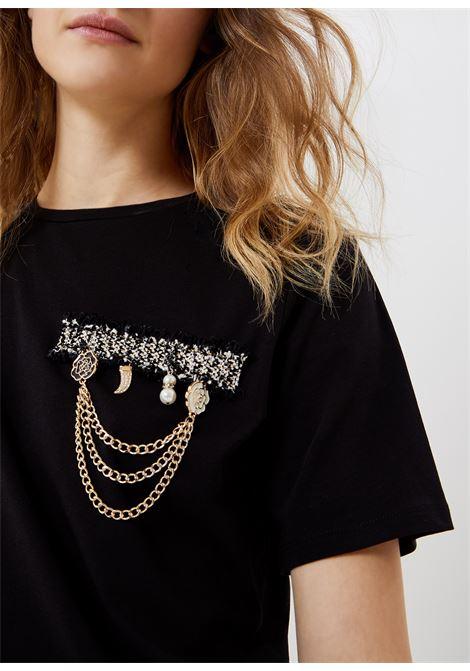Tshirt with application LIUJO |  | CA1026J5003U9210