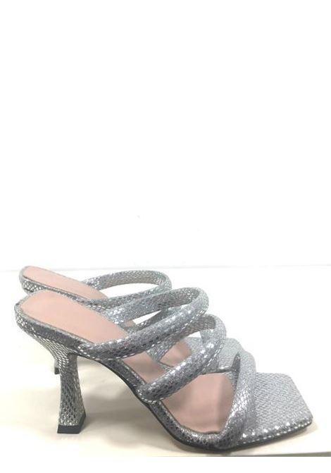 Sandali in lucertolina argento MELANY BOUTIQUE | Sandali | 4231REFINNEJ04