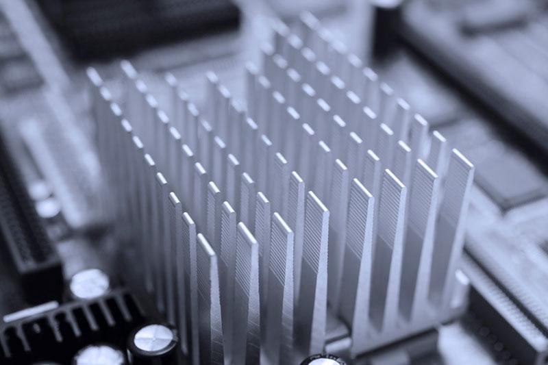 A Cross Cut Pin Fin Heatsink Showing Fin Detail