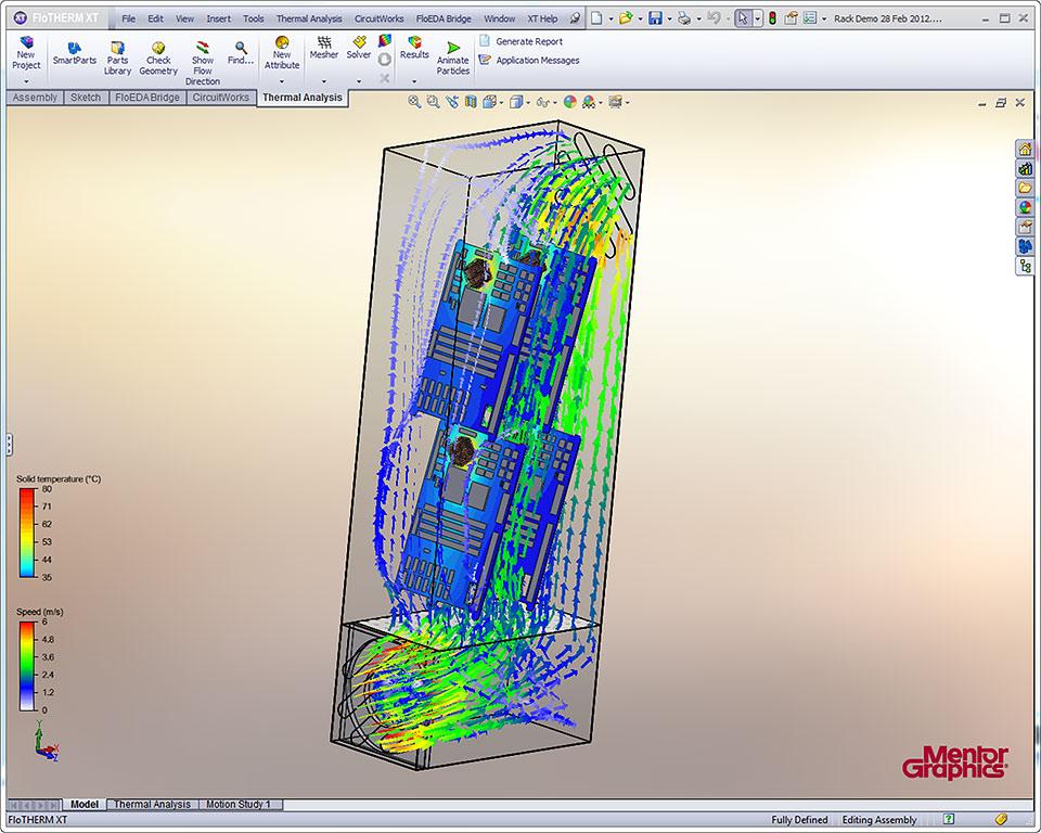 複雑な電子システムに特化した電子機器冷却設計ソフトウェア