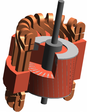 CUTAWAY VIEW OF THE INDUCTION MOTOR