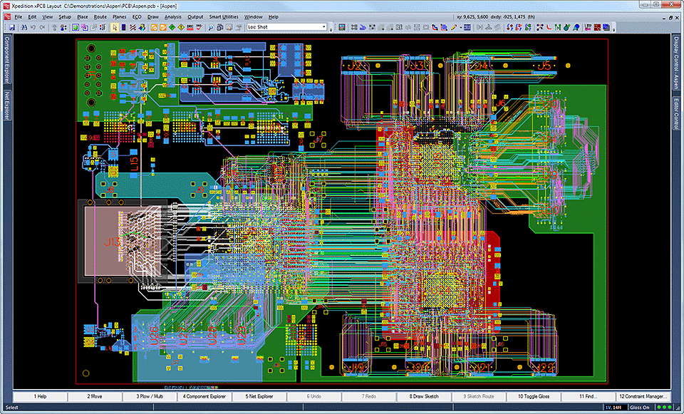 PCB Placement and Routing - Mentor Graphics