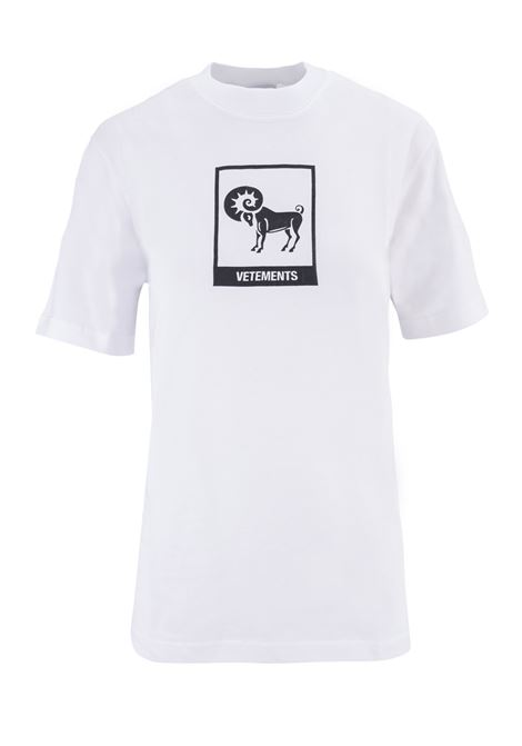 T-shirt Vetements Vetements | 8 | UAH19TR303WHITEARIE