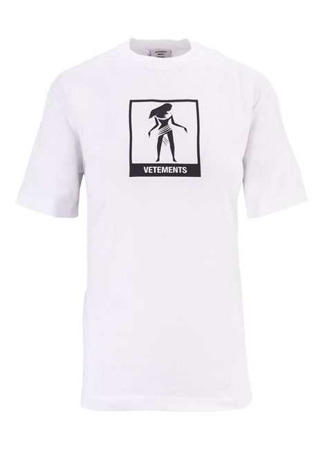 T-shirt Vetements Vetements | 8 | UAH19TR303WHITEVIRG