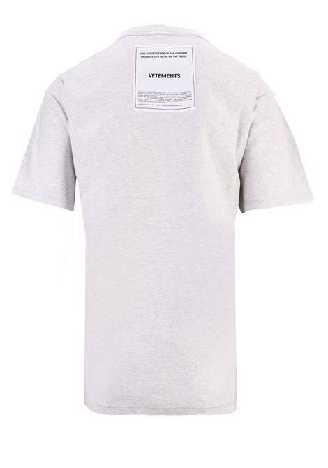 T-shirt Vetements Vetements | 8 | UAH19TR305GREY