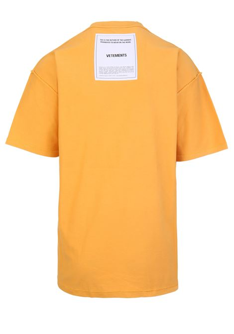 T-shirt Vetements Vetements | 8 | UAH19TR305YELLOW