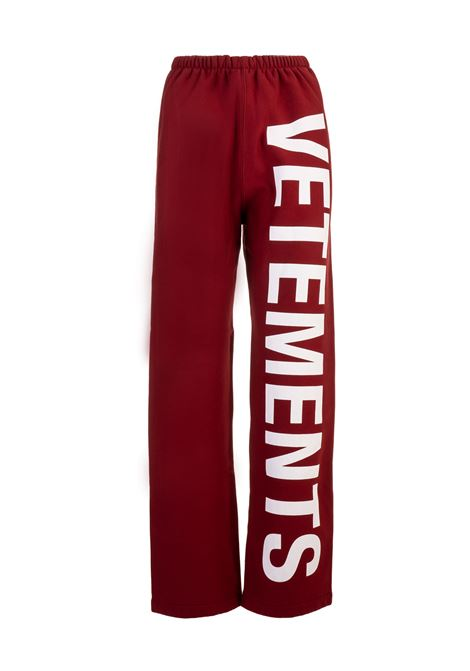 Vetements trousers Vetements | 1672492985 | WAH19PA107RED