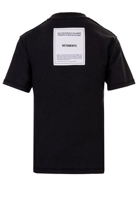 Vetements t-shirt Vetements   8   WAH19TR101BLACK