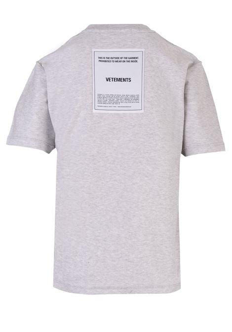 Vetements t-shirt Vetements   8   WAH19TR101GREY