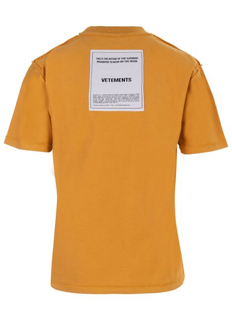 T-shirt Vetements Vetements | 8 | WAH19TR101YELLOW
