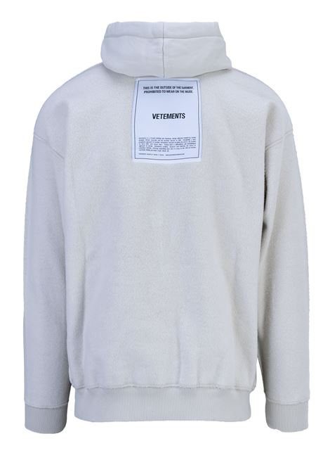 Felpa Vetements Vetements | -108764232 | WAH19TR107OFFWHITE