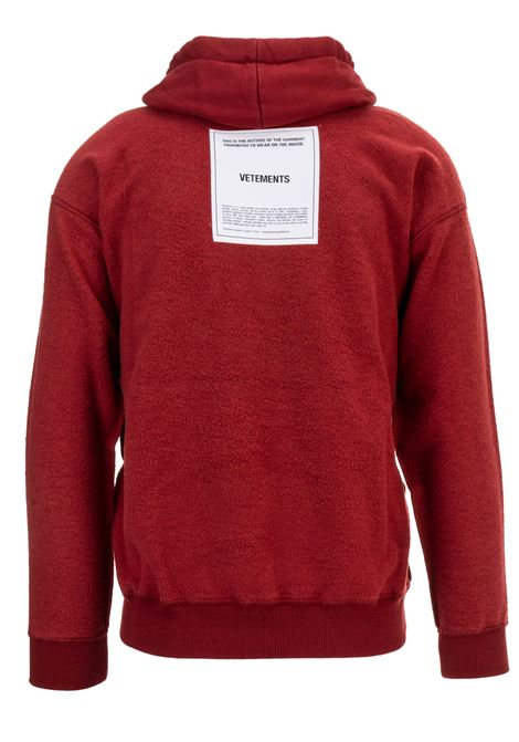 Felpa Vetements Vetements | -108764232 | WAH19TR107RED