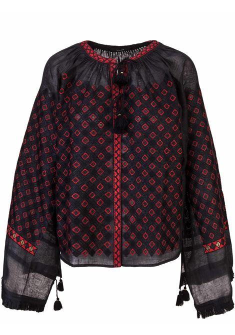 Vita Kin blouse Vita Kin | 131 | BLSGYPJDPB1BLACKRED