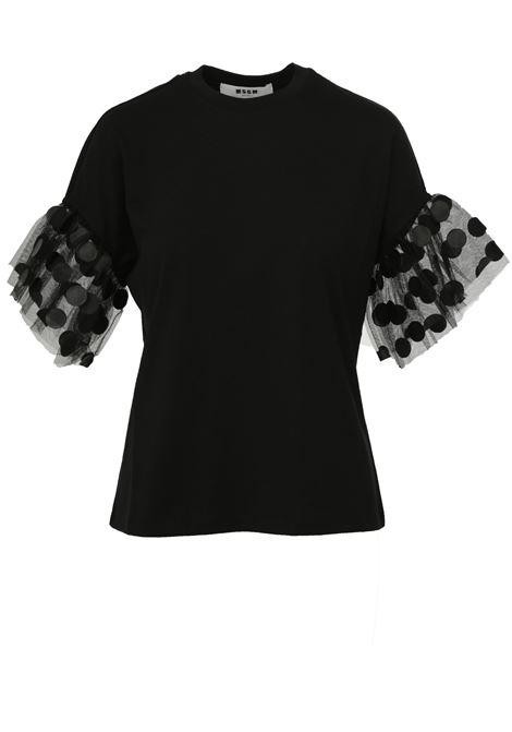 T-shirt in cotone e tulle MSGM MSGM | 8 | 2743MDM6119579799