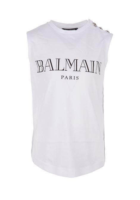 Balmain paris tanktop BALMAIN PARIS KIDS | -1740351587 | 6K8532KX080100NE