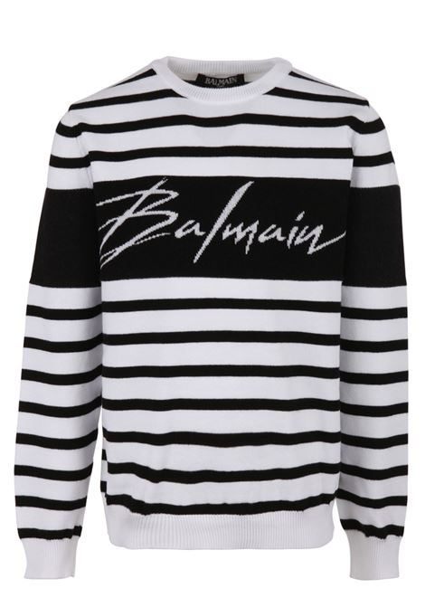 Felpa Balmain Paris Kids BALMAIN PARIS KIDS | -108764232 | 6K9520KC630930BC