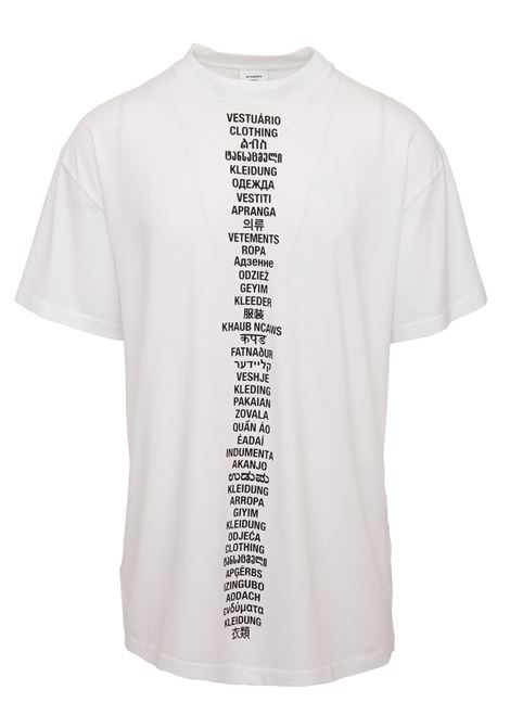 T-shirt Vetements Vetements | 8 | USS197067WHITE