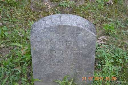 ABBOTT, CATHERINE - Branch County, Michigan | CATHERINE ABBOTT - Michigan Gravestone Photos