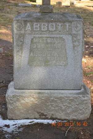 ABBOTT, AUGUSTA L. - Branch County, Michigan | AUGUSTA L. ABBOTT - Michigan Gravestone Photos