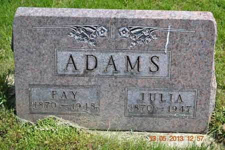 ADAMS, FAY - Branch County, Michigan | FAY ADAMS - Michigan Gravestone Photos