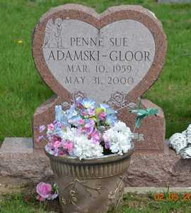 ADAMSKI-GLOOR, PENNE SUE - Branch County, Michigan   PENNE SUE ADAMSKI-GLOOR - Michigan Gravestone Photos