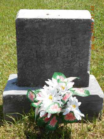 ALBRIGHT, GEORGE - Branch County, Michigan   GEORGE ALBRIGHT - Michigan Gravestone Photos