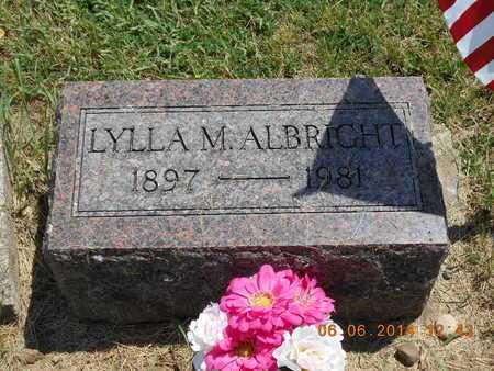ALBRIGHT, LYLLA M. - Branch County, Michigan | LYLLA M. ALBRIGHT - Michigan Gravestone Photos