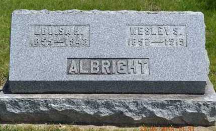ALBRIGHT, LOUISA H. - Branch County, Michigan | LOUISA H. ALBRIGHT - Michigan Gravestone Photos
