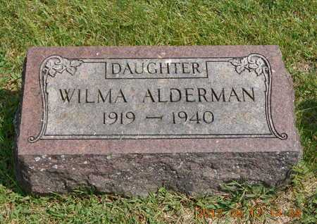ALDERMAN, WILMA - Branch County, Michigan | WILMA ALDERMAN - Michigan Gravestone Photos