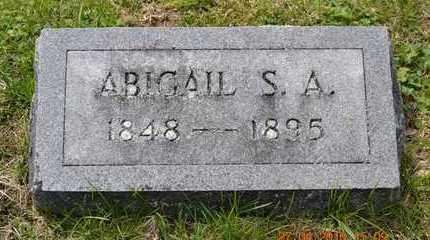 ALLEN, ABIGAIL S.A.(HEADSTONE) - Branch County, Michigan | ABIGAIL S.A.(HEADSTONE) ALLEN - Michigan Gravestone Photos