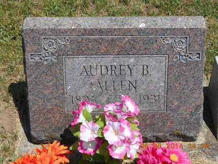 ALLEN, AUDREY B. - Branch County, Michigan | AUDREY B. ALLEN - Michigan Gravestone Photos