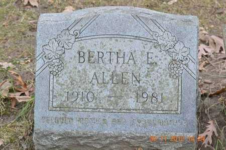 ALLEN, BERTHA E. - Branch County, Michigan | BERTHA E. ALLEN - Michigan Gravestone Photos