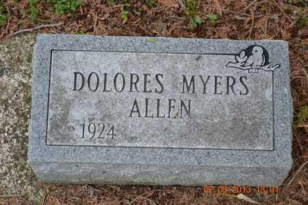 ALLEN, DOLORES - Branch County, Michigan | DOLORES ALLEN - Michigan Gravestone Photos